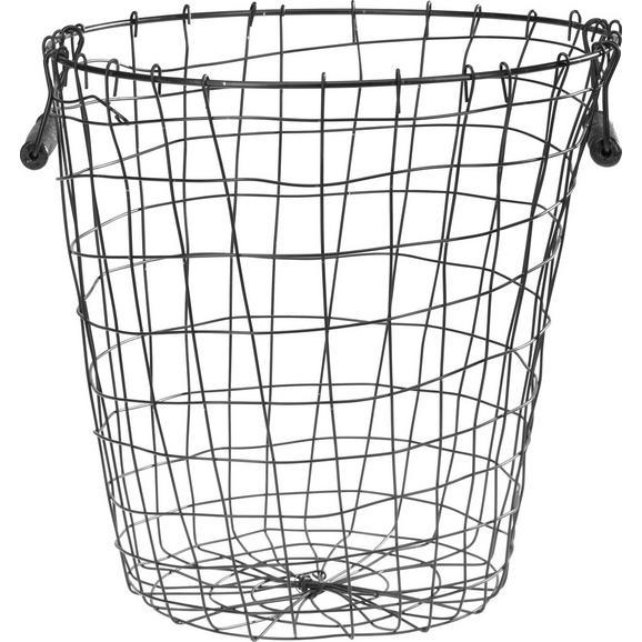 Košara Paula - črna, kovina (35/36,5cm) - Mömax modern living