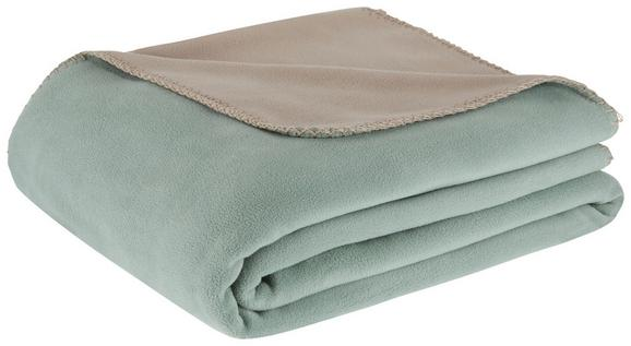 Fleecedecke Martin Grün/Grau 150x200cm - Grau/Grün, KONVENTIONELL, Textil (150 200 cm) - Mömax modern living