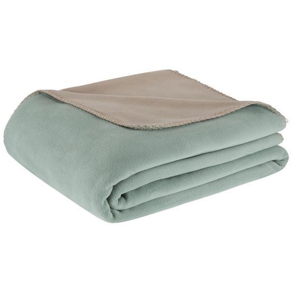 Odeja Iz Flisa Martin Wende - siva/zelena, Konvencionalno, tekstil (150/200cm) - Mömax modern living