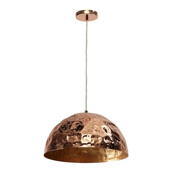 Pendelleuchte Kupari - Kupferfarben, Kunststoff/Metall (40/40/150cm) - Bessagi Home