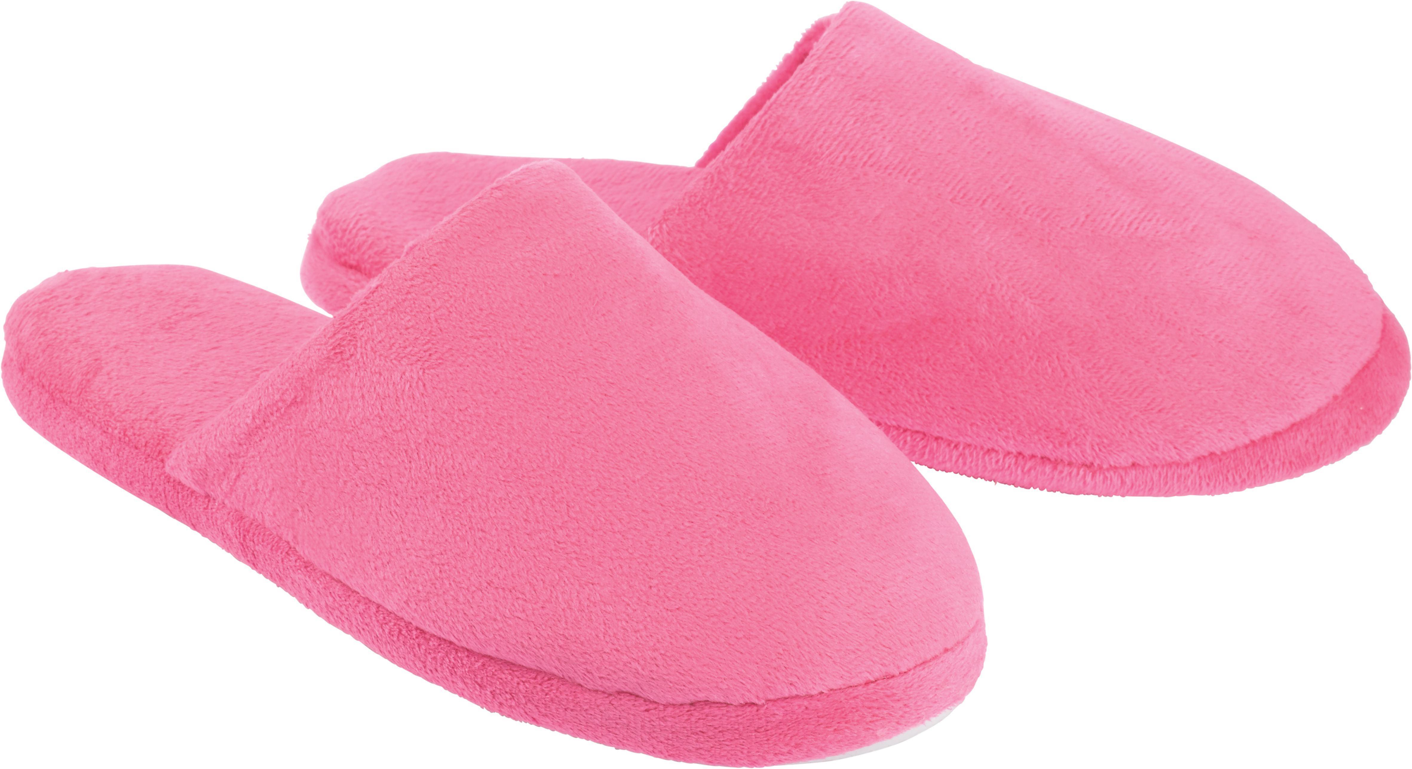 Vendégpapucs Lisi - világosszürke/pink, textil - MÖMAX modern living