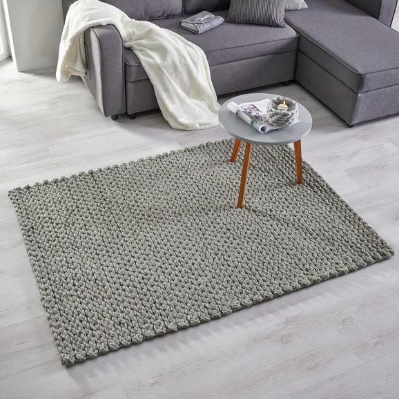 teppich kordula handgewebt ca 120x170cm grau modern textil 120 170cm