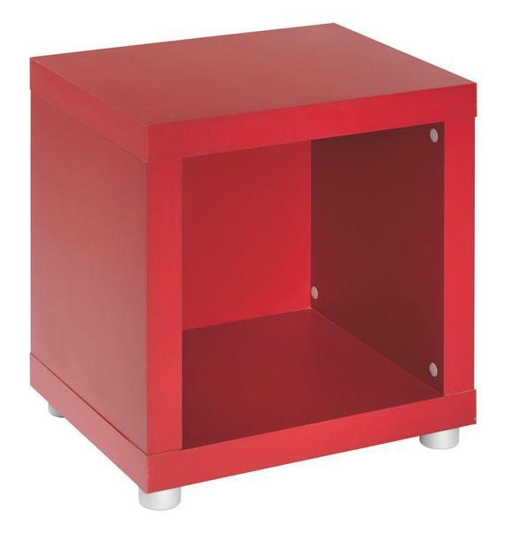 Kisasztal Aron Rot - Piros, Faalapú anyag (44/46/35cm)