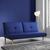 Sofa Katja mit Schlaffunktion - Blau, MODERN, Holz/Textil (183/85/94cm) - Mömax modern living