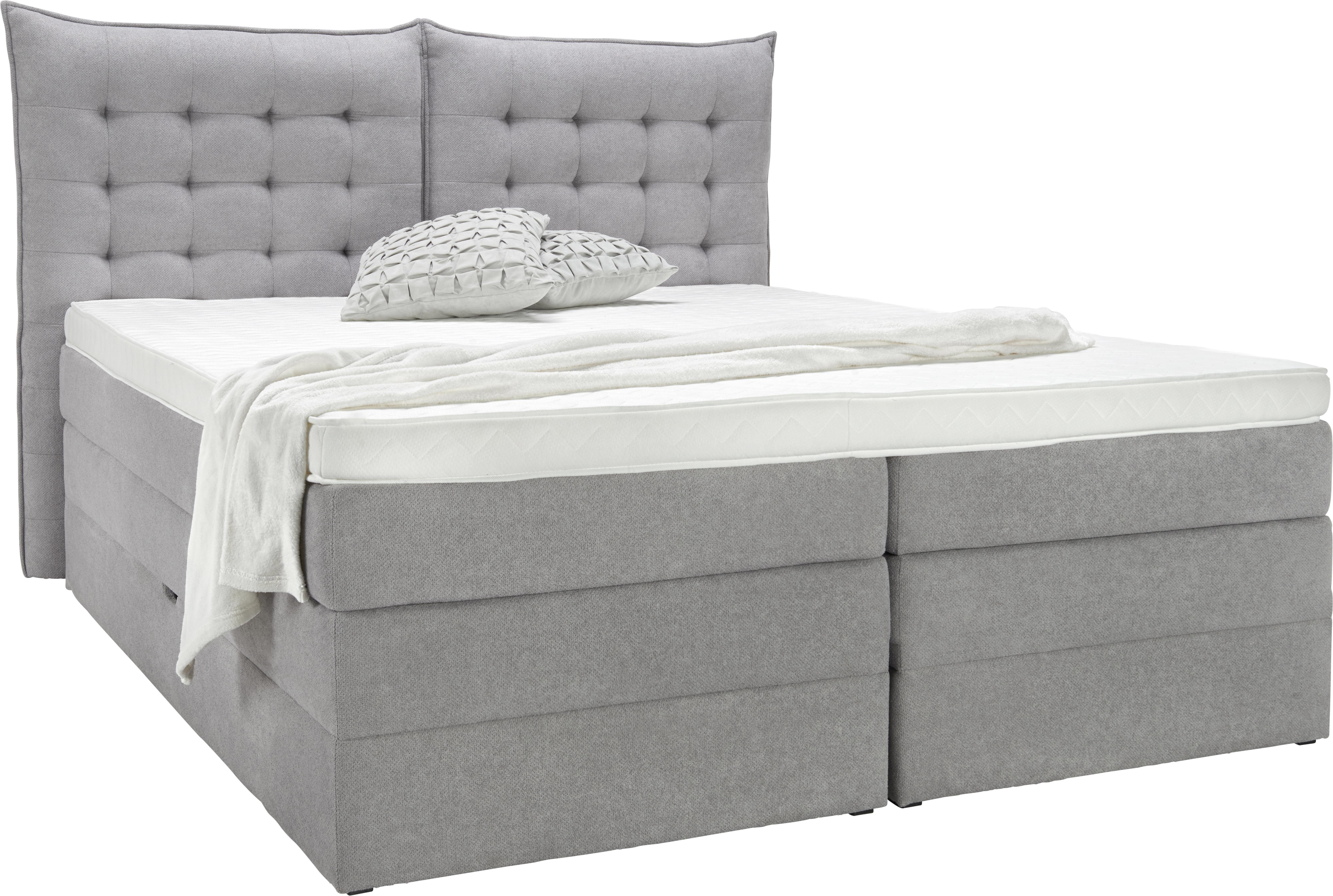 Bett In Grau, Ca. 180x200cm   Schwarz/Grau, KONVENTIONELL, Kunststoff/