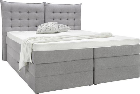 Postelja Aura - siva, tekstil (214/178/131cm) - premium living