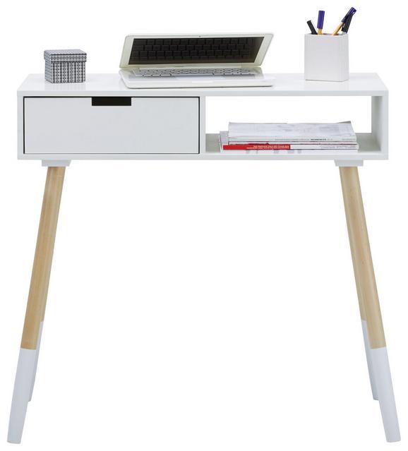 Birkenholz Farbe schreibtisch in weiß aus holz kaufen mömax