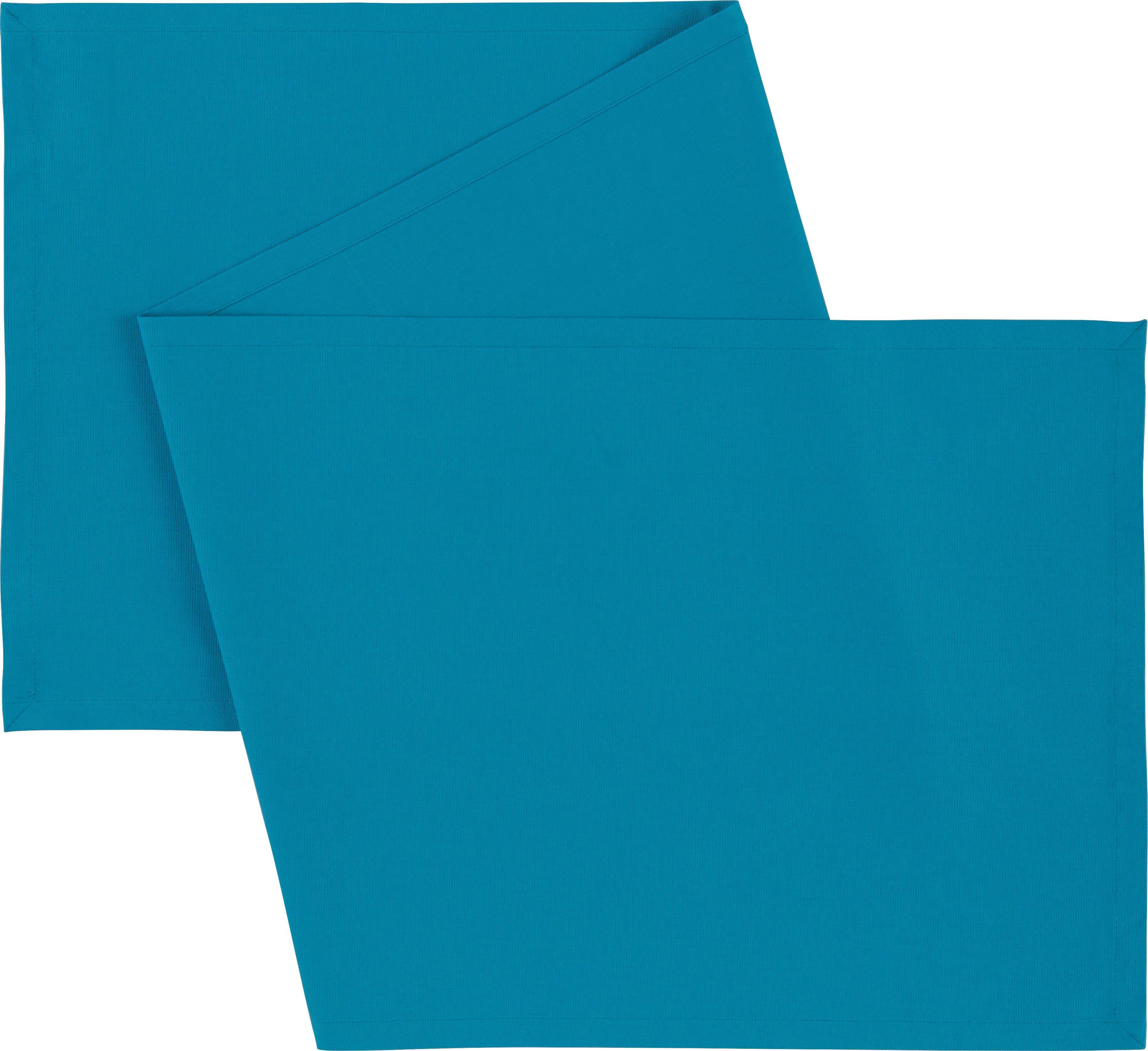 Tischläufer Steffi in Petrol - Petrol, Textil (45/150cm) - MÖMAX modern living
