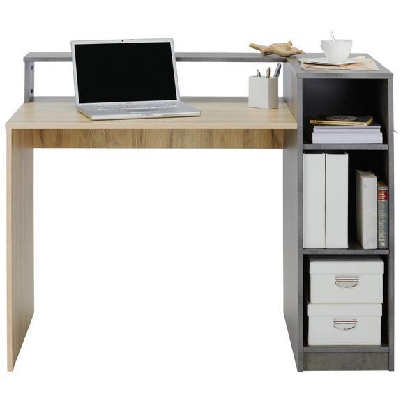 Schreibtisch in Grau/Eichefarben - Eichefarben/Grau, MODERN, Holz (120/91,5/67cm) - Mömax modern living