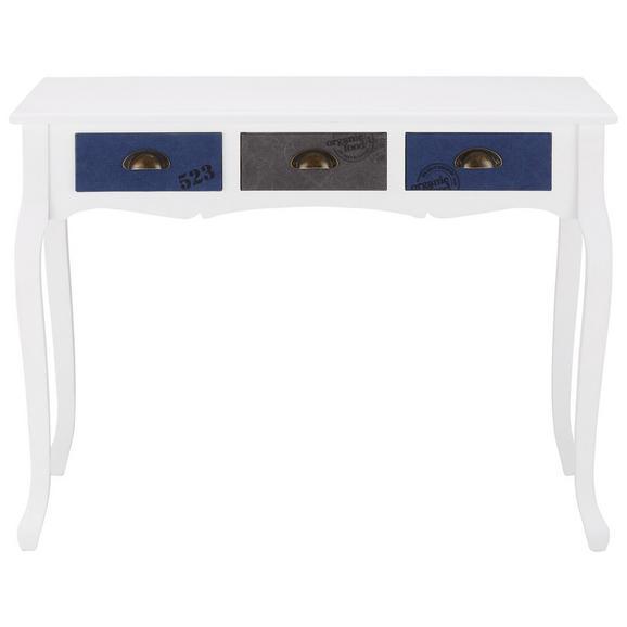 schreibtisch grau wei dunkelblau online kaufen m max. Black Bedroom Furniture Sets. Home Design Ideas