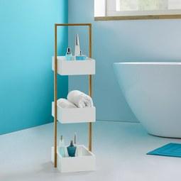 Regal Mirella - Buchefarben/Weiß, MODERN, Holz (32/89,50/24cm) - Modern Living