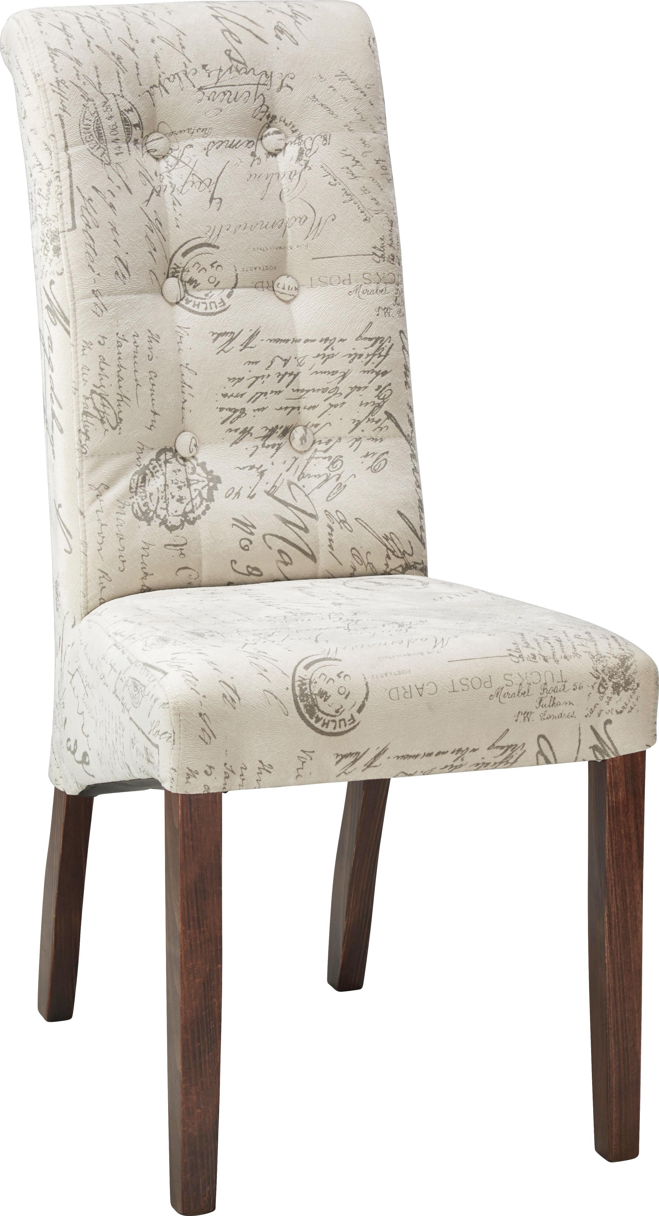 Stuhl in Creme/grau - Creme/Grau, ROMANTIK / LANDHAUS, Holz (48/102/50cm) - ZANDIARA