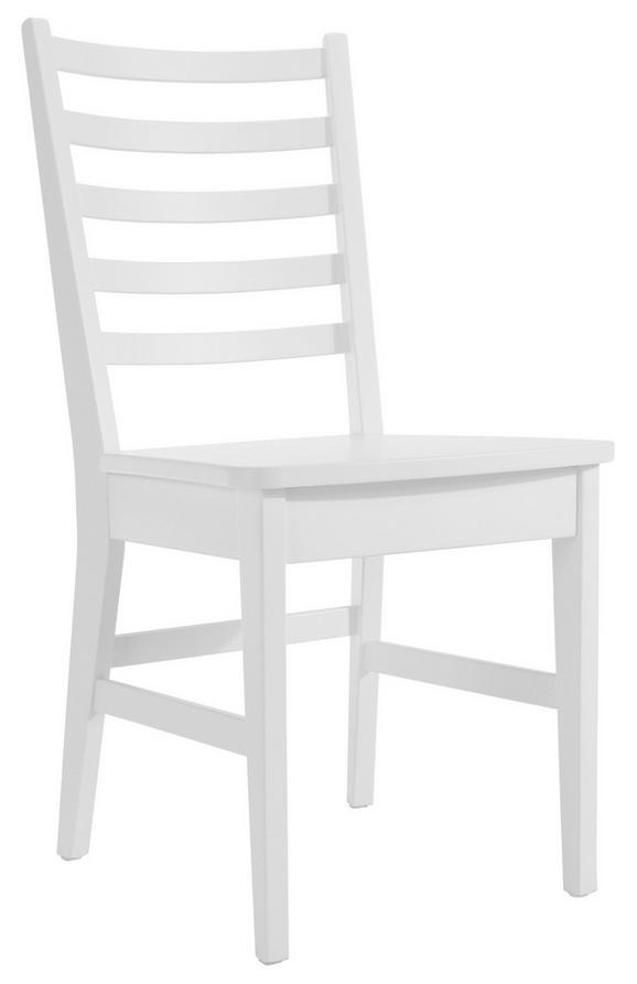 Szék Provence - fehér, romantikus/Landhaus, fa (44/90/44cm)