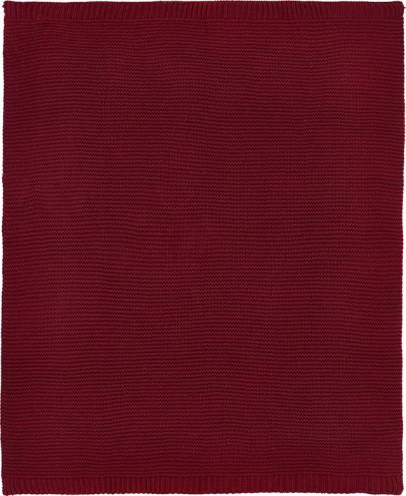 Kuscheldecke Romance Strick in Weinrot - Weinrot, ROMANTIK / LANDHAUS, Textil (127/152cm) - Mömax modern living
