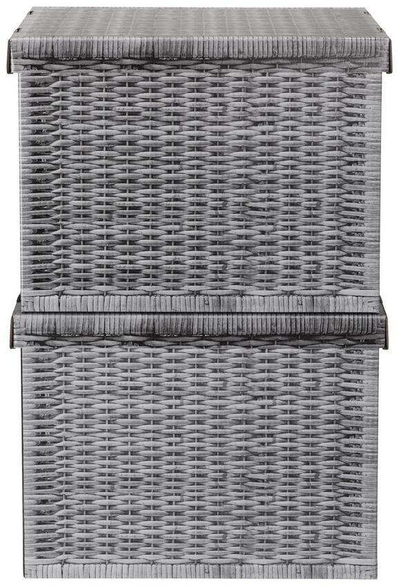 Box mit Deckel Jimmy Grau - Grau, Karton (42/32/32cm) - Mömax modern living