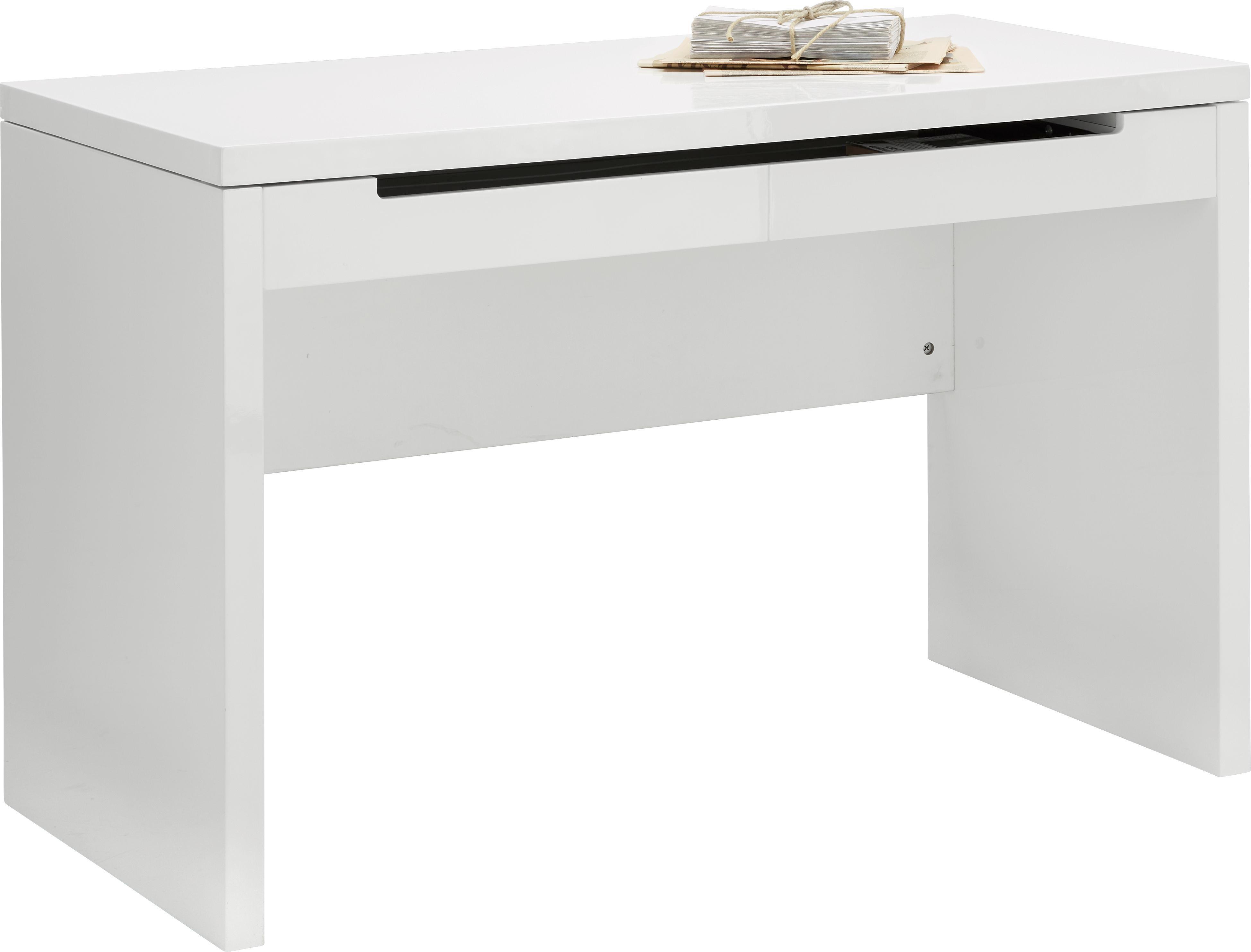 Schreibtisch In Weiß   Weiß, MODERN, Holzwerkstoff/Metall (120/78,