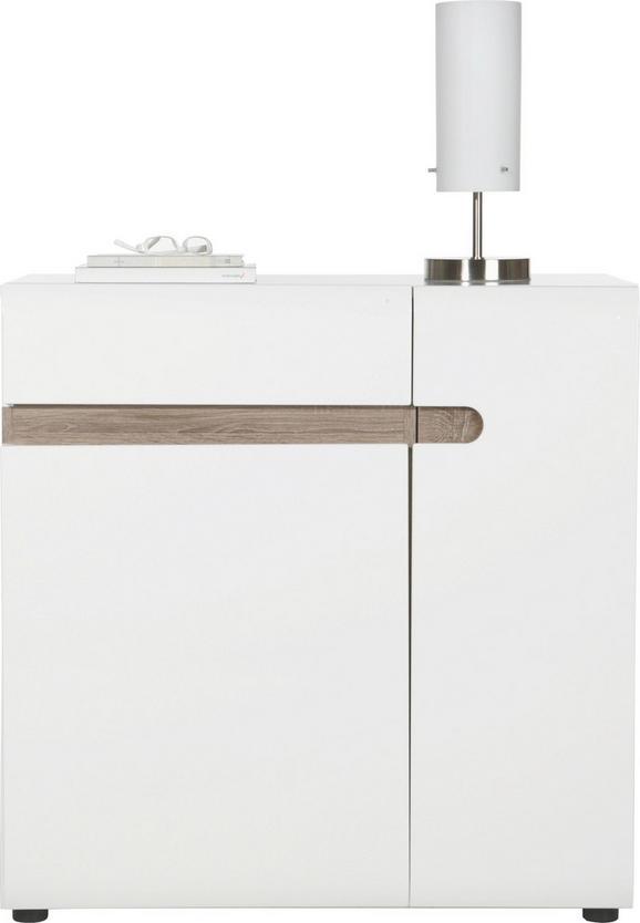 Kommode in Weiß/Trüffel - Trüffeleichefarben/Weiß, MODERN, Holzwerkstoff (85/87/42cm) - MÖMAX modern living