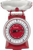 Küchenwaage Retro aus Metall in Rot - Rot/Weiß, Metall (20,5/20,5/25,5cm) - Mömax modern living