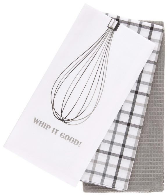 Geschirrtuch-Set Whip Verschiedenen Farben - Petrol/Rosa, Textil (50/70cm) - Mömax modern living