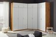 Kleiderschrank Weiß/Eiche - Alufarben, MODERN, Holzwerkstoff/Kunststoff (91/197/54cm) - Modern Living