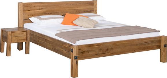 Bett Eiche 180x200cm - Eichefarben, Holz/Weitere Naturmaterialien (180/200cm) - ZANDIARA