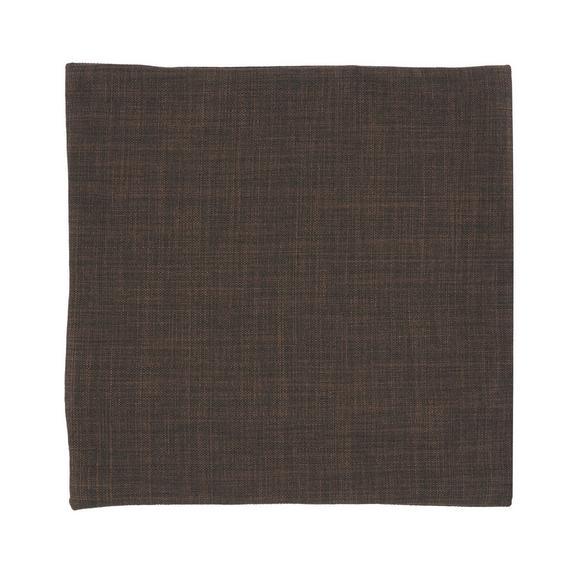 Prevleka Blazine Leinenoptik - temno rjava, Konvencionalno, tekstil (40/40cm) - Mömax modern living
