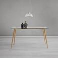 Tisch Vinnie ca. 140x80 cm - Klar/Braun, MODERN, Glas/Metall (140/76/80cm) - Modern Living