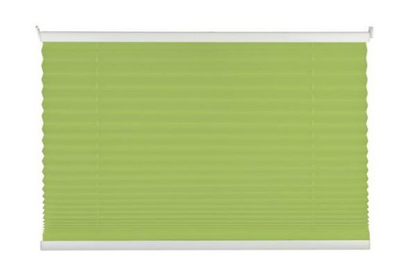 Plissee Free in Grün, ca. 100x130cm - Grün, Textil (100/130cm) - Premium Living