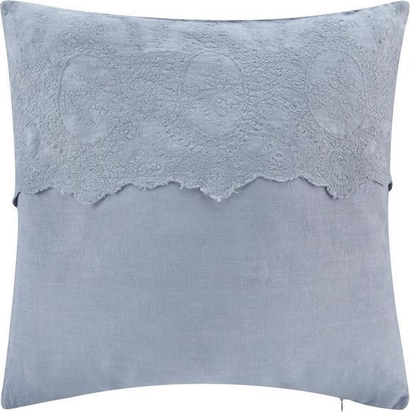 Zierkissen Pia 50x50cm - Blau/Grau, ROMANTIK / LANDHAUS, Textil (50/50cm) - MÖMAX modern living
