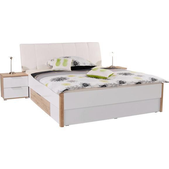 Posteljna Garnitura 180x200 Cm Florenz - hrast/bela, Konvencionalno, leseni material (192/100/215cm) - Mömax modern living