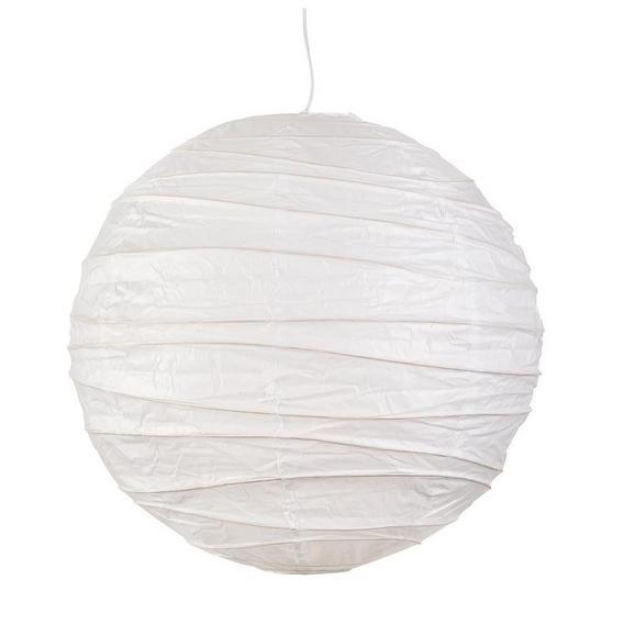 Lámpaernyő Valentina - Fehér, Papír/Fém (40cm) - Based