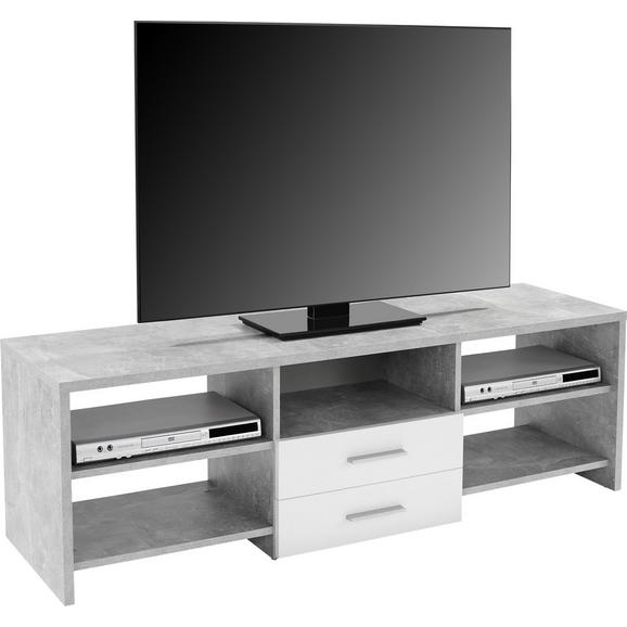 Masă Pentru Televizor Tico - alb/gri, Modern, lemn (150/45/40cm)