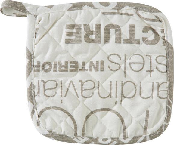 Topflappen Modern Home in Weiß/stein - Hellgrau/Weiß, MODERN, Textil (20/20cm) - MÖMAX modern living