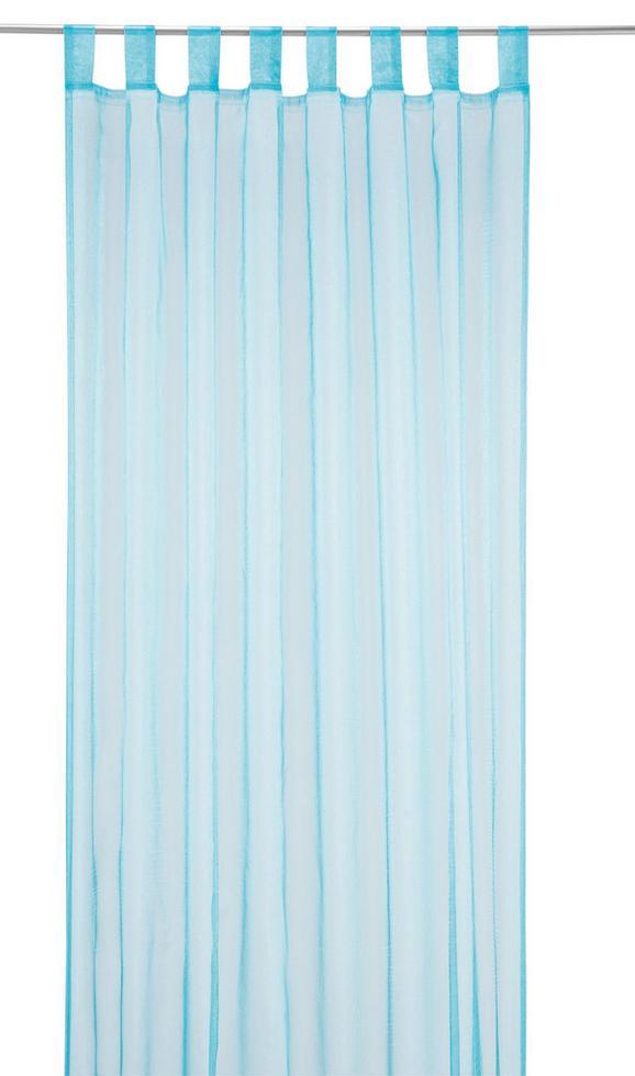 Zavesa Z Zankami Hanna - modra, tekstil (140 245 cm) - Based