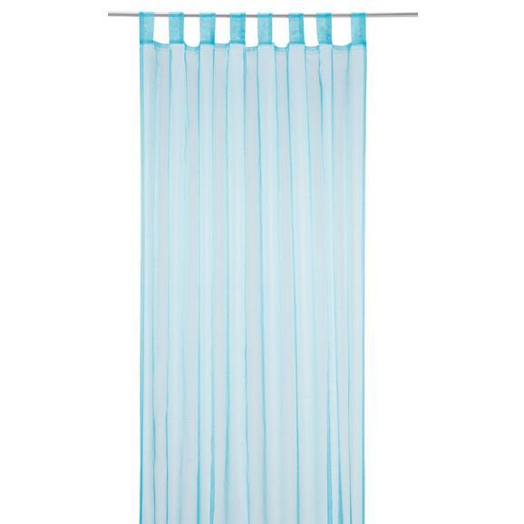 Zavesa Z Zankami Hanna - modra, tekstil (140/245cm) - Based