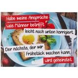 Postkarte Frühstück - Multicolor, Papier (14,8/10,5cm)