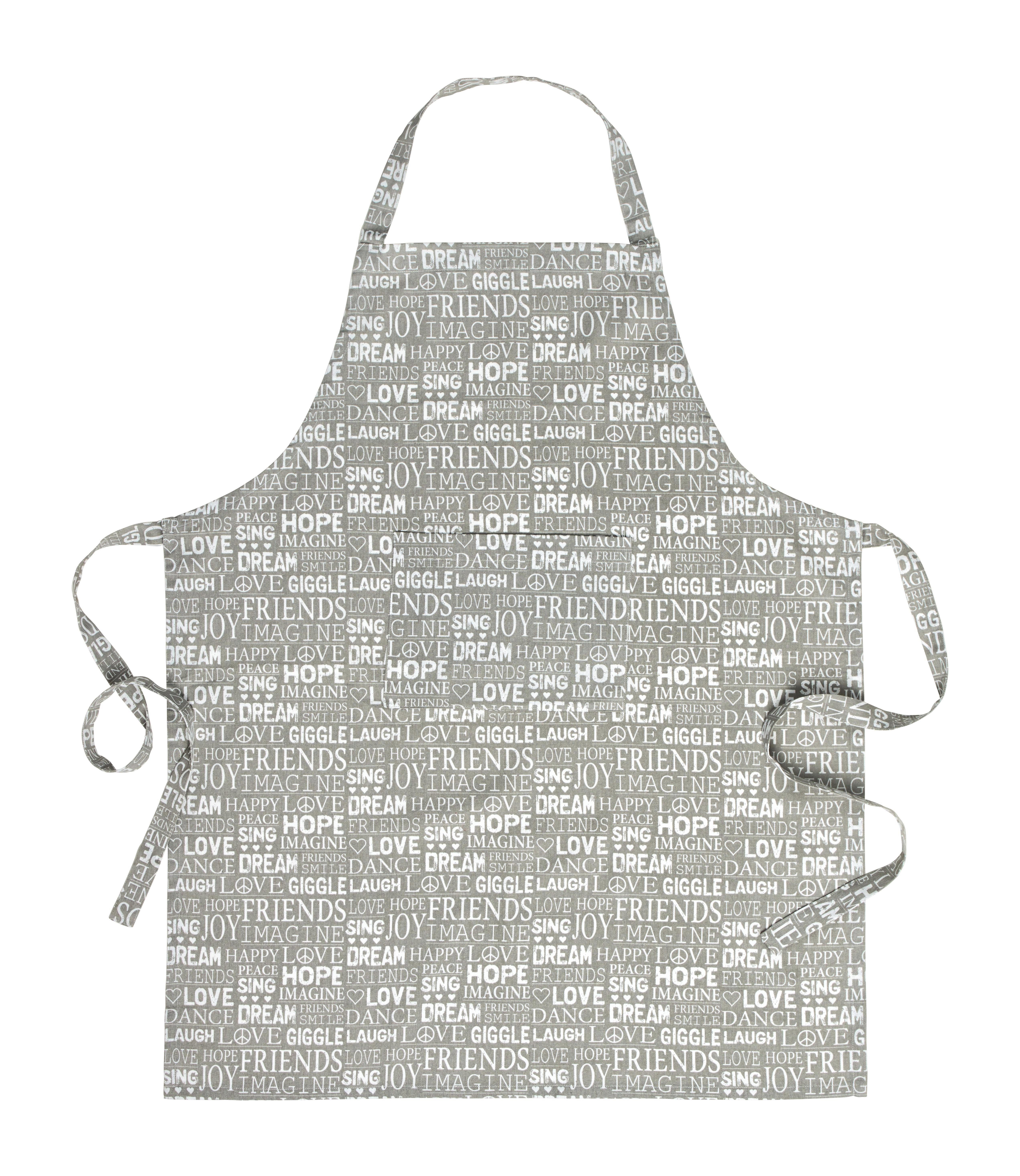 Kötény Friends - szürke, textil (70/90cm) - MÖMAX modern living