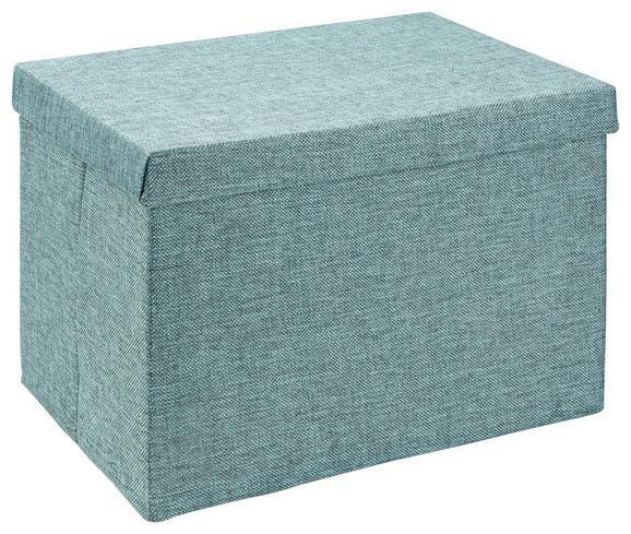 Škatla Za Shranjevanje Cindy -ext- -top- - petrolej, Moderno, tekstil (38/26/24cm) - Mömax modern living