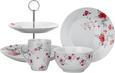 Dessertteller Roseanne mit Rosen Motiv - Pink/Grau, ROMANTIK / LANDHAUS, Keramik (20,32cm) - Zandiara