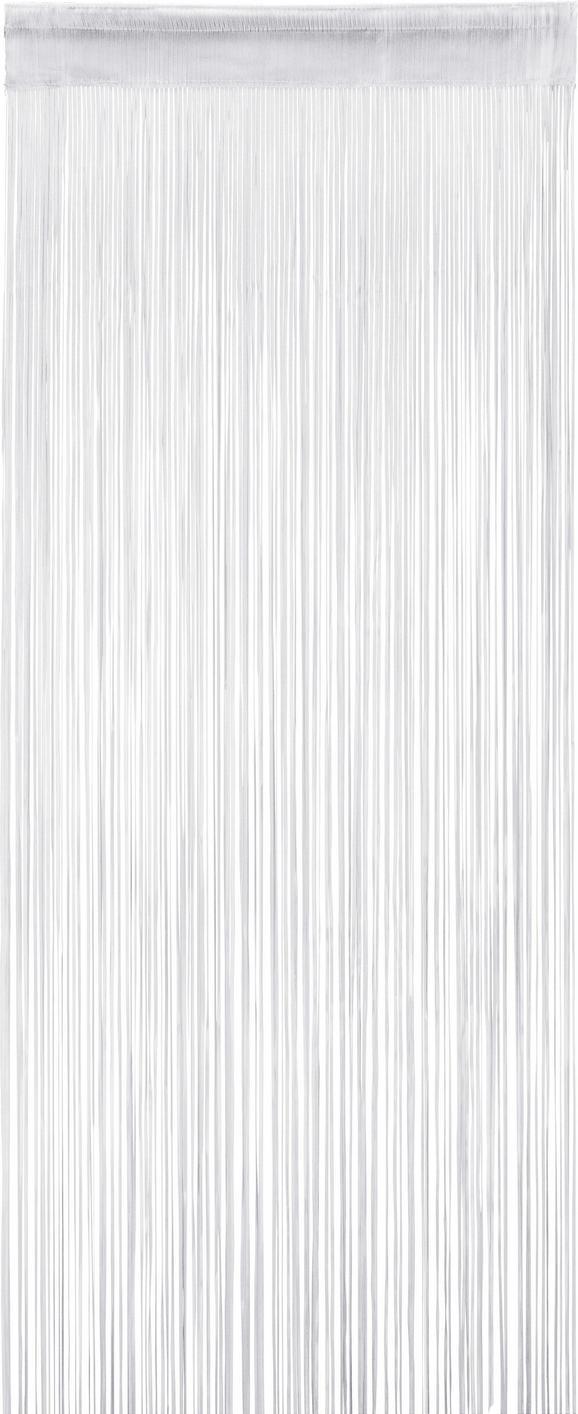 Zsinórfüggöny Fehér Színben - Fehér, Textil (60/245cm) - Mömax modern living
