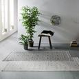 Flachwebeteppich Soho in Grau ca. 80x200cm - Grau, MODERN, Textil (80/200cm) - Modern Living
