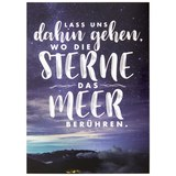 Postkarte Statements in Dunkelblau - Multicolor, Papier (10,5/14,8cm) - VS Visual Statements