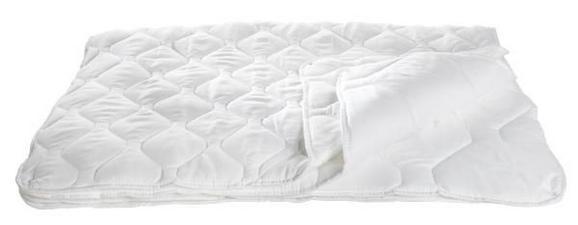 Steppdecke für Kinder, ca. 100x135-140cm - Weiß, Textil (140/100cm) - Nadana