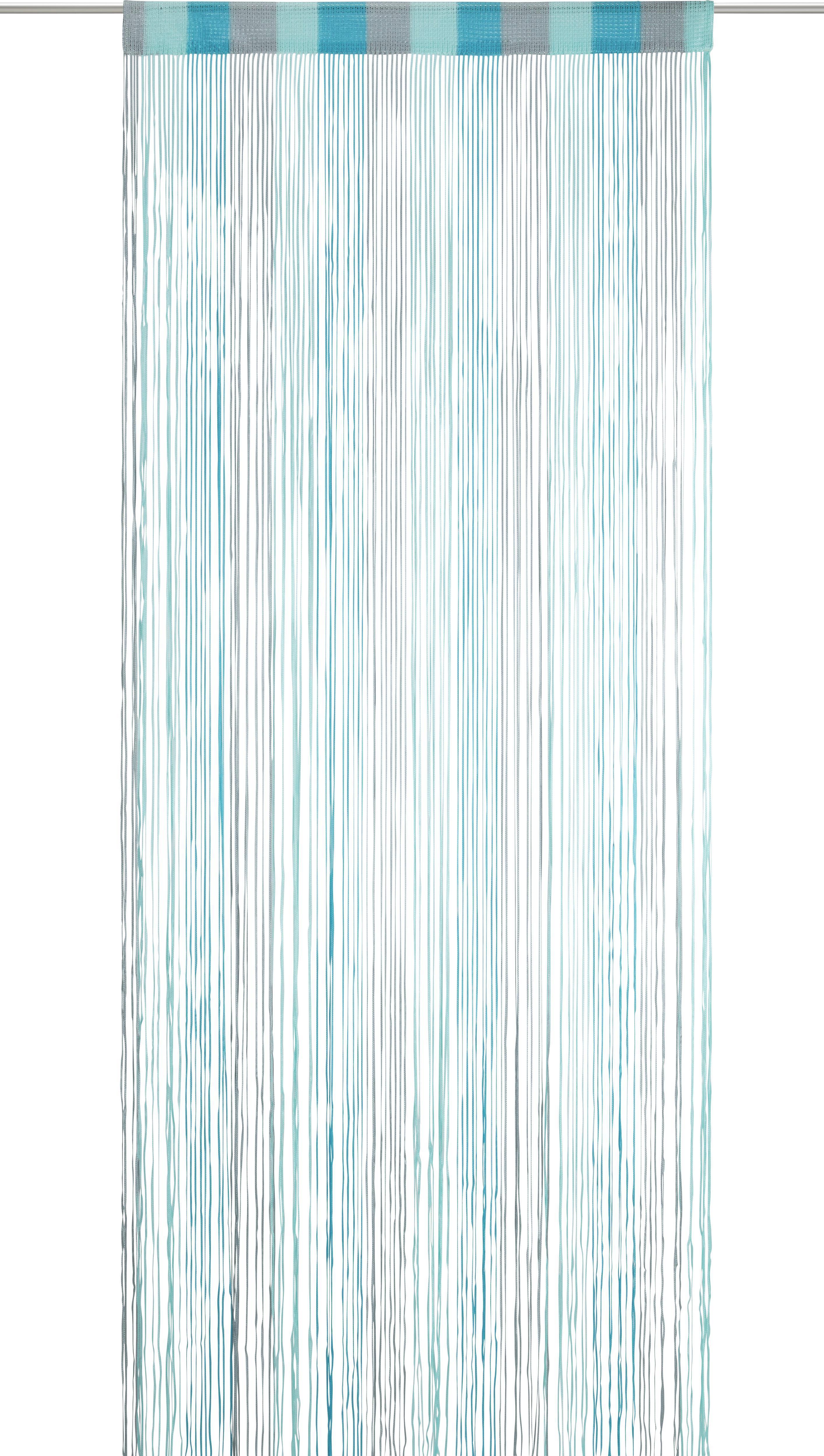 Zsinórfüggöny String - türkiz/kék, textil (90/245cm) - MÖMAX modern living