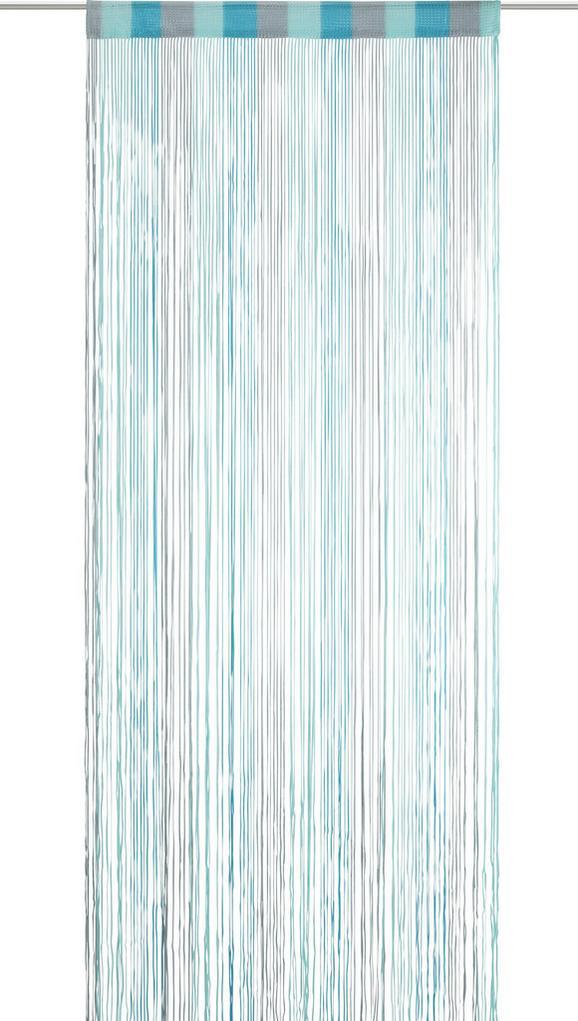Zsinórfüggöny String - Türkiz/Szürke, Textil (90/245cm) - Mömax modern living