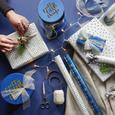 Geschenkbox Leonie S Blau/goldfarben - Blau, Karton