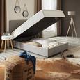 Nachtkästchen in Weiß - Eichefarben/Weiß, MODERN, Holz (40/40/52cm) - Modern Living