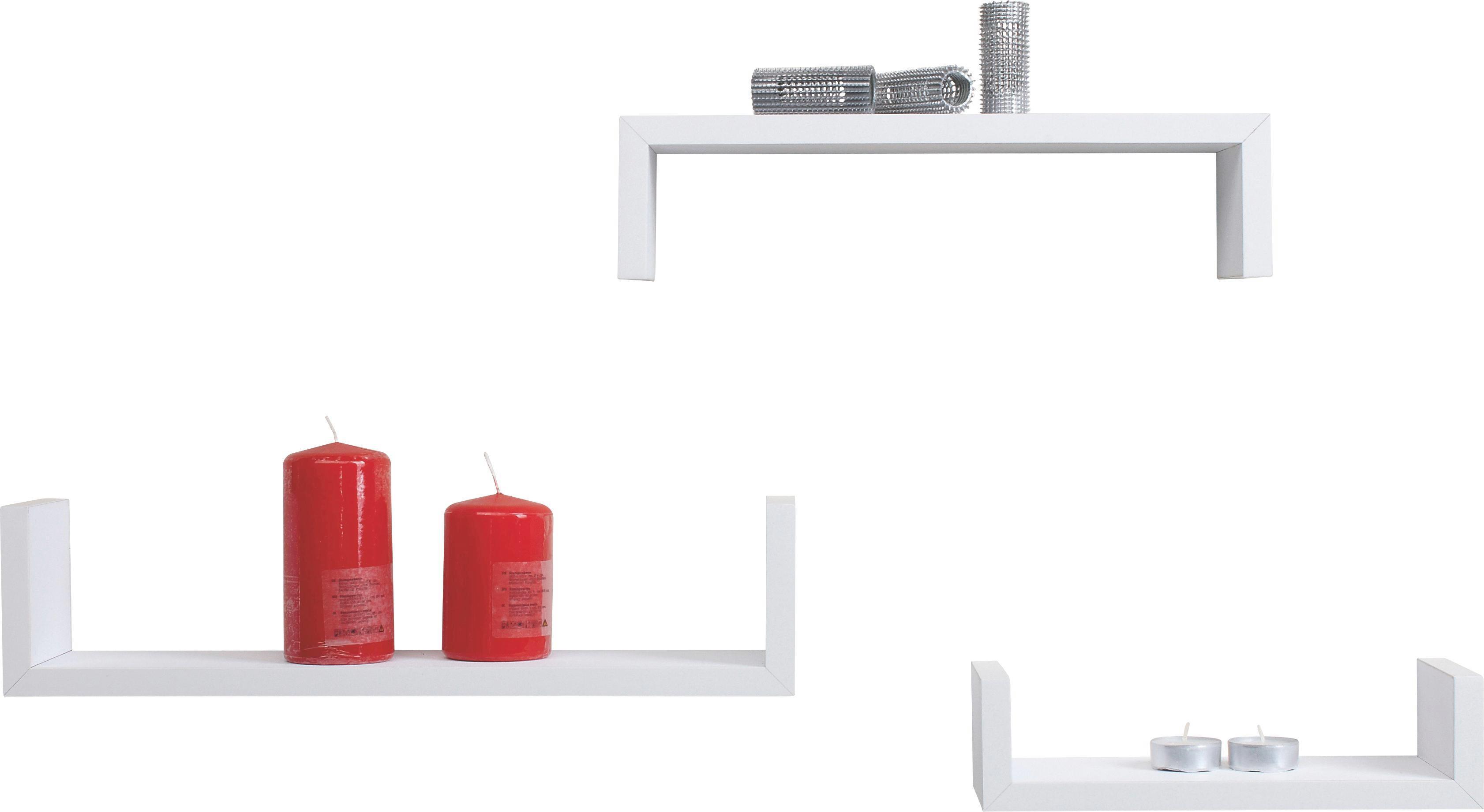Wandboardset U-bord Weiß - Weiß, MODERN, Holzwerkstoff (42/10/10cm) - MÖMAX modern living