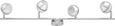 Deckenleuchte Tiffany mit Led 4-flammig - Chromfarben, Metall (88/8/15,5cm) - Mömax modern living
