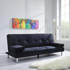 Sofa Esther mit Schlaffunktion inkl. Kissen - Chromfarben/Dunkelgrau, MODERN, Holz/Textil (200/82/89cm) - Mömax modern living